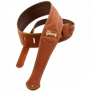 Gibson Classic Brown Leather Guitar Strap